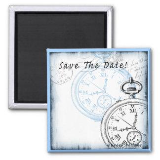 Save the Date Timepiece Pocketwatch Entwurf Quadratischer Magnet