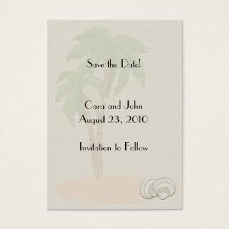 Save the Date tropisch Jumbo-Visitenkarten