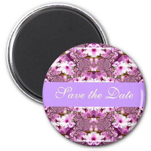 Save the Date Wedding Einladungs-Braut mit Blumen Magnete