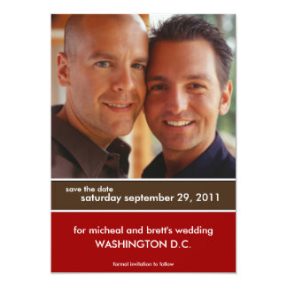 Save the Date Wedding Mitteilungen {Farbblock} Personalisierte Ankündigungskarten
