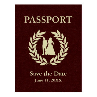 Save the Date wedding Pass Postkarte