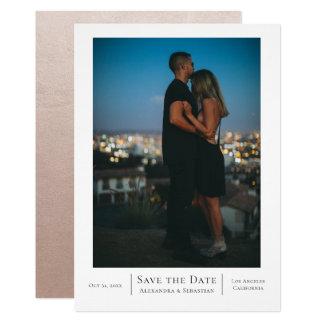 Save the Date Wedding personalisiert Karte