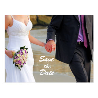 Save the Date Wedding Postkarte