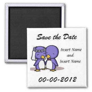 Save the Date Wedding Quadratischer Magnet