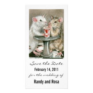 Save the Date Wedding Ratten-Foto-Karte Individuelle Photo Karten