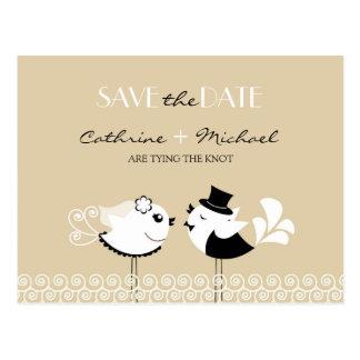 Save the Date Wedding Vogel-Postkarte Postkarte