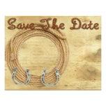 Save the Date Western-Hochzeitseinladung Individuelle Ankündigskarten