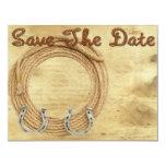 Save the Date Western-Hochzeitseinladung 10,8 X 14 Cm Einladungskarte