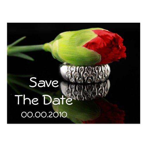 SaveThe Datums-Ereignis und Hochzeit Postkarte