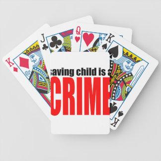 SAVINGCHILDISACRIME harambe tötete Tötung childre Bicycle Spielkarten