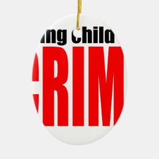 SAVINGCHILDISACRIME harambe tötete Tötung childre Ovales Keramik Ornament
