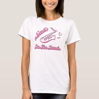 SAXOPHON AUF DEM STRAND T-Shirt