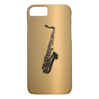 Saxophon auf kupfernem Bronzeeffekt iPhone 8/7 Hülle