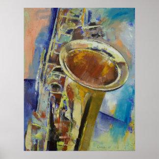 Saxophon-Druck Poster