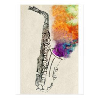 Saxophon-Heilen Postkarten
