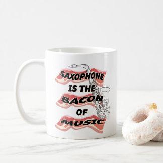 Saxophon ist der Speck von Musik Kaffeetasse