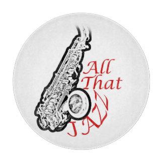 Saxophon-Jazz-Musiker-Band-Küchen-Platte