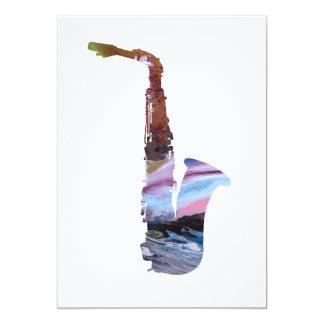 Saxophon-Kunst Karte