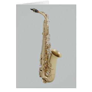 Saxophon-leere Gruß-Karte Karte