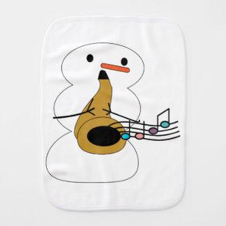 Saxophon mit Schneemann Spucktuch