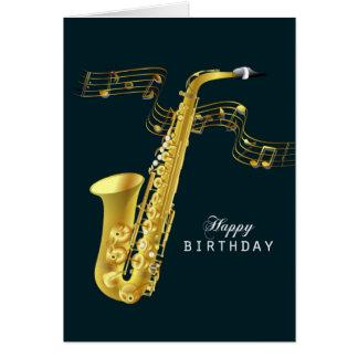 Saxophon-Musik-alles Gute zum Geburtstag Karte