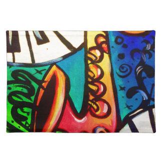 Saxophon-Musik-Kunst Tischset