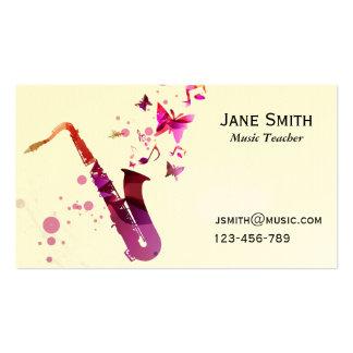 Saxophon-Musik-Lehrer-freiberuflich tätiger Visitenkarten
