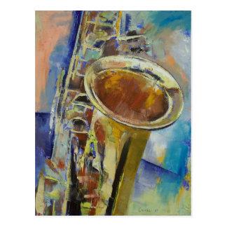 Saxophon-Postkarte Postkarte