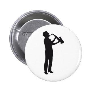 saxophon runder button 5,1 cm