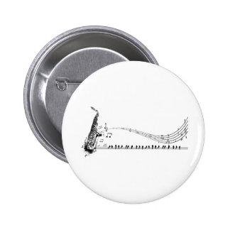 Saxophon ~ Saxophon-Musik u. Amseln Anstecknadelbuttons