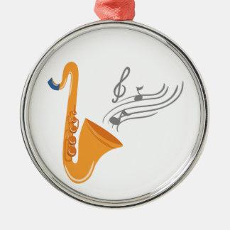 Saxophon Saxophon-Saxophon Silbernes Ornament