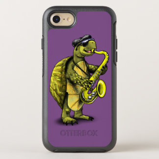Saxophon-Schildkröte Otterbox Fall OtterBox Symmetry iPhone 8/7 Hülle