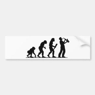 Saxophon-Spieler Auto Sticker