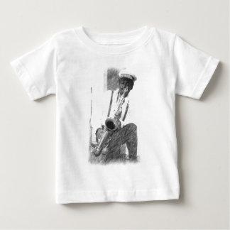 Saxophon-Spieler durch Hirsch Baby T-shirt