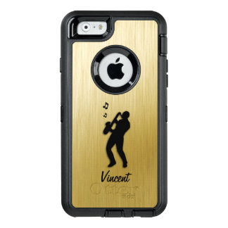 Saxophon-Spieler-Gold persönlich OtterBox iPhone 6/6s Hülle