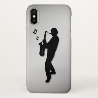 Saxophon-Spieler iPhone X Hülle
