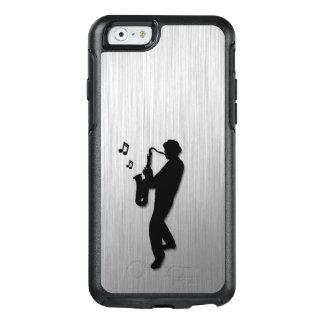 Saxophon-Spieler-Silber OtterBox iPhone 6/6s Hülle