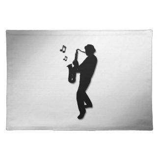Saxophon-Spieler Tischset