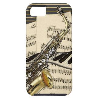 Saxophon u. Klavier-Musik Etui Fürs iPhone 5