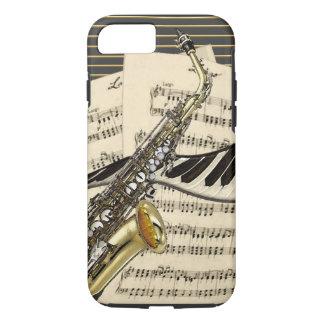 Saxophon u. Klavier-Musik iPhone 8/7 Hülle