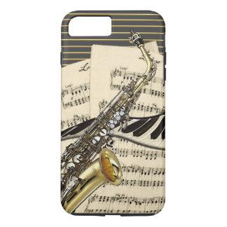 Saxophon u. Klavier-Musik iPhone 8 Plus/7 Plus Hülle