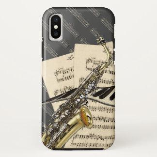 Saxophon u. Klavier-Musik iPhone X Hülle