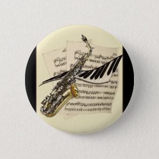 Saxophon-u. Klavier-Musik-Knöpfe Runder Button 5,1 Cm