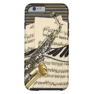 Saxophon u. Klavier-Musik Tough iPhone 6 Hülle
