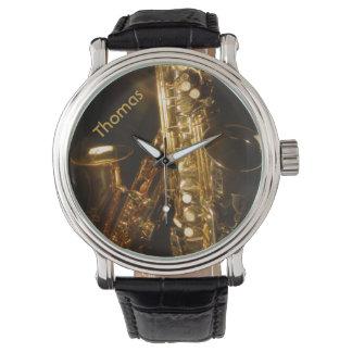 Saxophon-Uhr Armbanduhr