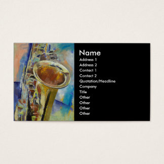 Saxophon-Visitenkarte Visitenkarten