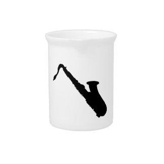 Saxophone-Silhouette Getränke Pitcher