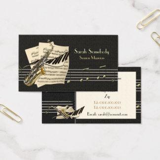 Saxophone-u. Klavier-Musik-Visitenkarte Visitenkarte
