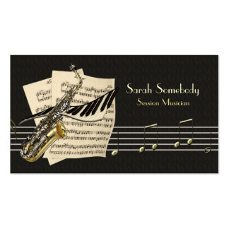 Saxophone-u. Klavier-Musik-Visitenkarte Visitenkarten