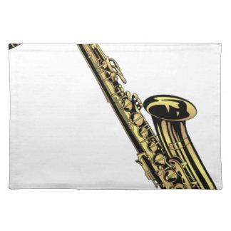 Saxophone-Zeichnen Tischset
